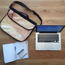 Upcycled Billboard Vinyl Laptop Bag – Made To Order