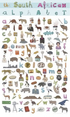 THE SOUTH AFRICAN ALPHABET – POSTER