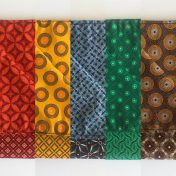 Reversible ShweShwe Napkins – Set of 2 – Various Colours: Red/Yellow/Blue/Green/Brown