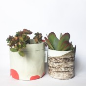 Upcycled planter – Special offer – Beige-Brown size S & M – no strap – Growbag