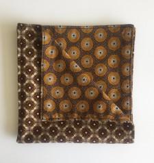 Reversible ShweShwe Napkins – Set of 2 – Brown