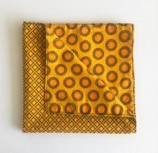 Reversible ShweShwe Napkins – Set of 2 – Yellow