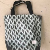 Upcycled Billboard Vinyl Shopper Bag – Tote