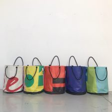 Upcycled Billboard Vinyl Bag – Rope