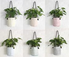 Bespoke Stripes – Planting Container Bag – Size Medium – Hanging – Growbag