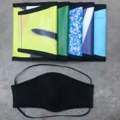 Face Mask & Upcycled Pouch